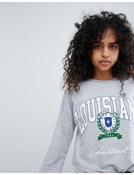 New Look Louisiana Crest Sweat by New Look