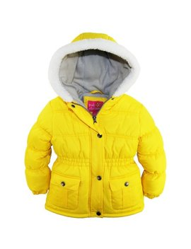 Pink Platinum Toddler Girls Sherpa Trim Hood Solid Puffer Winter Snow Jacket Coat by Pink Platinum