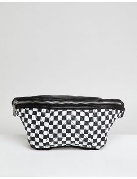 Asos Quilted Fanny Pack In Checkerboard Print by Asos Design