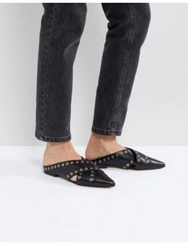 Sol Sana Cross Black Eyelet Flat Shoes by  Sol Sana