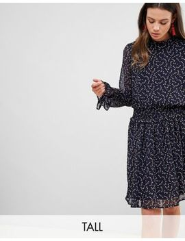 Y.A.S Tall Graphic Floral Frill Shift Dress by Y.A.S. Tall