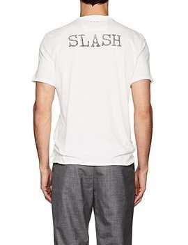 Slash Print Cotton Jersey T Shirt by John Varvatos Star U.S.A.