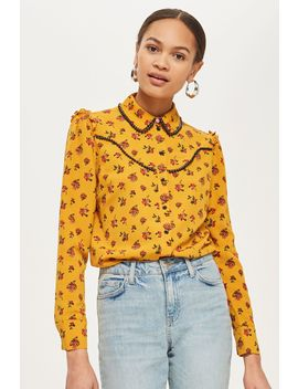 Rodeo Floral Spotted Shirt by Topshop