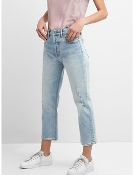 Cone Denim® Super High Rise Crop Straight Jeans by Gap