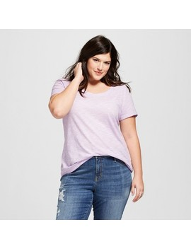 Women's Plus Size Scoop Neck Short Sleeve T Shirt   Ava & Viv™ by Ava & Viv™
