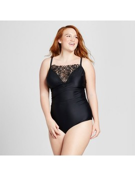 Costa Del Sol Women's Plus Size Macrame One Piece by Costa Del Sol