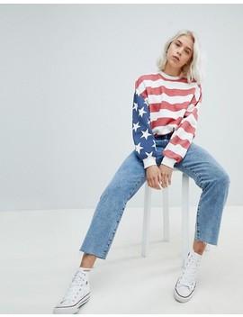 Pull&Bear Stars & Stripe Oversized Sweater by Pull&Bear