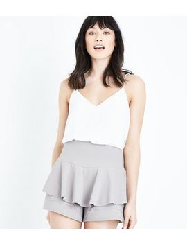 Cameo Rose Grey Frill Skort by New Look