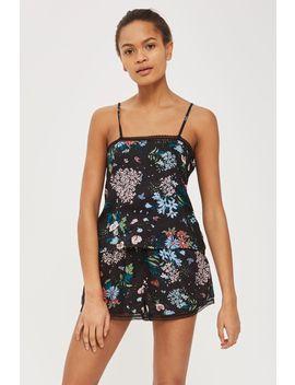 Dark Floral Camisole Pyjama Top by Topshop