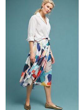 Abstract Shapes Midi Skirt by Miranda Dunn