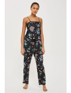 Dark Floral Pyjama Trousers by Topshop