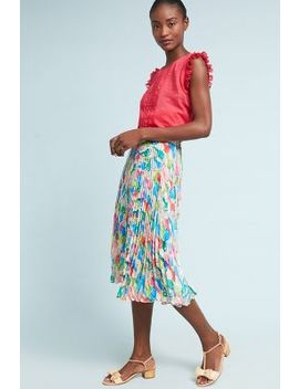 Jelena Pleated Skirt by Eva Franco