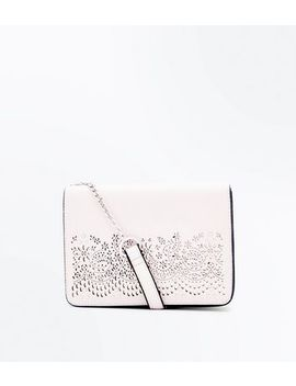 Nude Cut Out Chain Strap Shoulder Bag by New Look