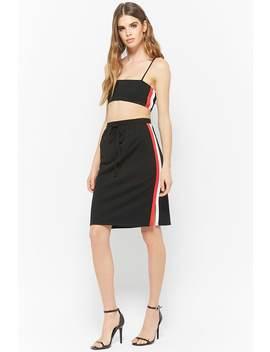 Striped Drawstring Skirt by Forever 21