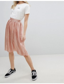 Glamorous Pleated Metallic Skirt by Glamorous