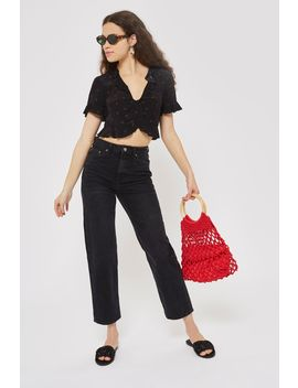 Moto Straight Crop Jeans by Topshop