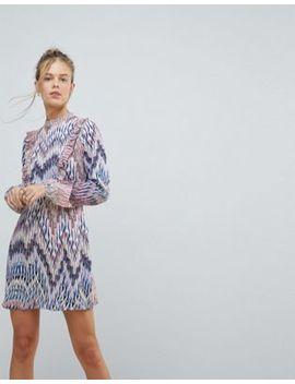 Ax Paris Long Sleeve Graphic Print Dress by Dress
