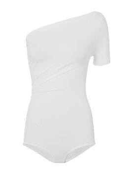 Asymmetrical Seamless Bodysuit by Helmut Lang