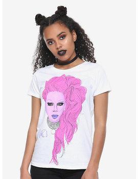 Ru Paul Pink Portrait Girls T Shirt by Hot Topic