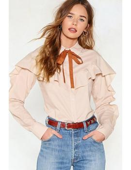 Bow Way Pussybow Shirt by Nasty Gal