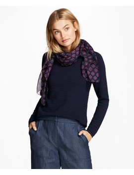 Bobble Stitch Cotton Sweater by Brooks Brothers