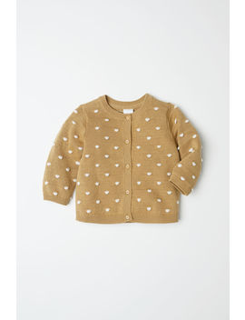 Dotted Cotton Cardigan by H&M