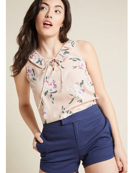 Lace Up Lady Collared Blouse Lace Up Lady Collared Blouse by Modcloth
