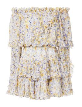 Dahlia Off Shoulder Dress by Caroline Constas