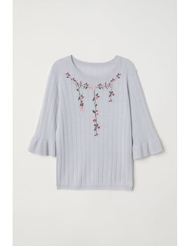 Sweater With Embroidery by H&M