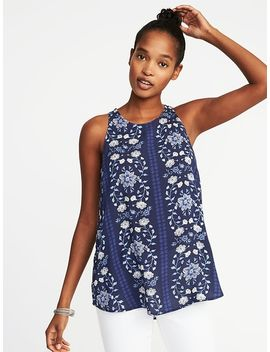 Relaxed High Neck Sleeveless Top For Women by Old Navy