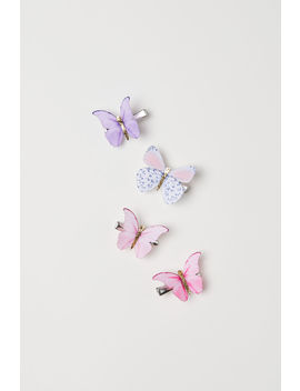 4 Pack Butterfly Hair Clips by H&M