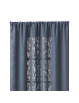 "Lindstrom Blue 48""X84"" Curtain Panel by Crate&Barrel"