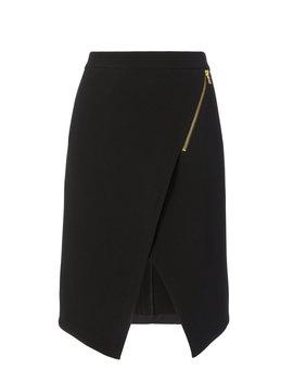 Zip Detail Asymmetrical Skirt by Intermix
