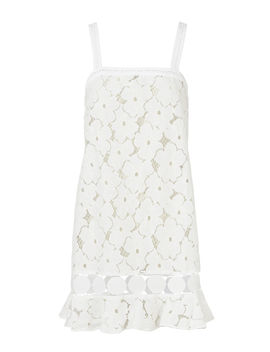 Adi Circle Trim Lace Mini Dress by Kisuii