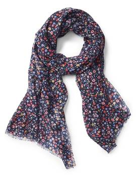 Oblong Ditsy Floral Scarf by Gap