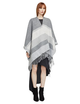 Color Blocked Ruana Poncho by Bcbgmaxazria