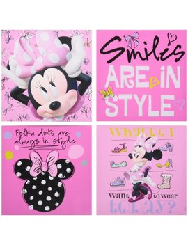 Disney Minnie Mouse 4 Pack Canvas Wall Art by Disney