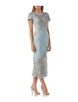 Soutache Overlay Midi Dress by Js Collections