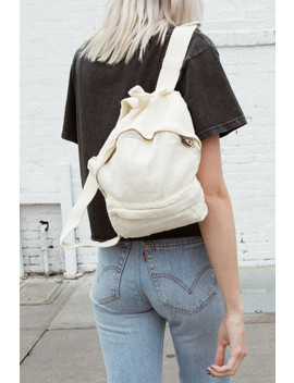 Light Yellow Mini Backpack by Brandy Melville