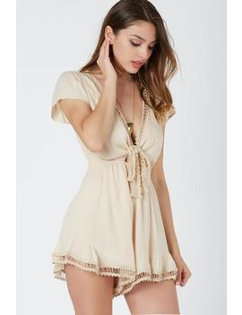 Plunge Date Romper by Necessary Clothing