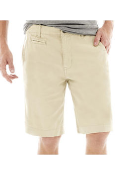 "Arizona 10¼"" Inseam Flat Front Shorts by Arizona"