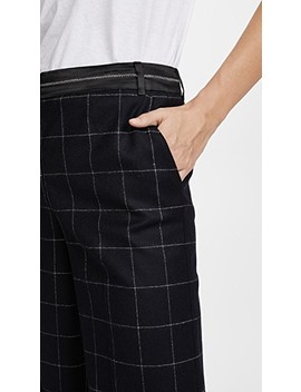 Hansel Window Pane Straight Leg Trousers by Elizabeth And James