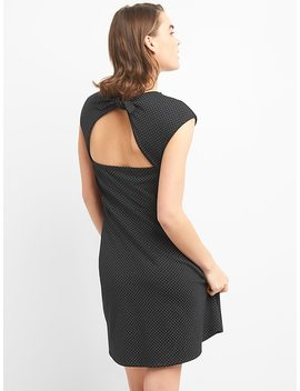 Bunny Tie Fit And Flare Dress In Ponte by Gap