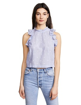 Ruffle Sleeveless Blouse by Bella Dahl