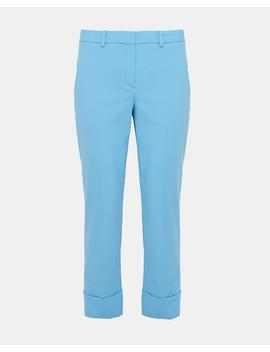 Stretch Wool Crop Cuff Pant by Theory