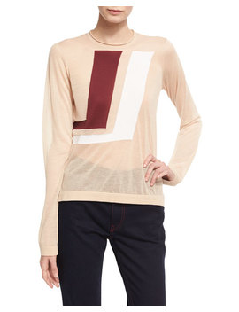 Two Tone Graphic Sweater by Neiman Marcus