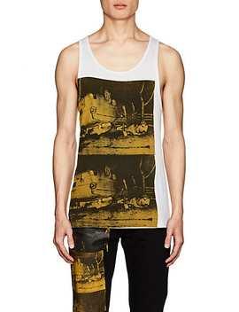 """""""Crash"""" Print Cotton Tank by Calvin Klein 205 W39 Nyc"""