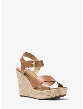 Kady Leather Wedge by Michael Michael Kors
