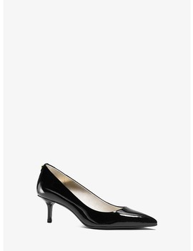 Flex Patent Leather Kitten Heel Pump by Michael Michael Kors