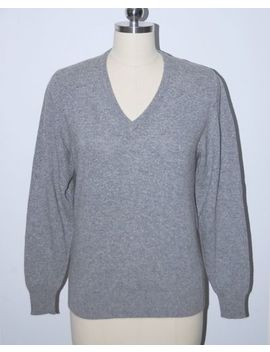 The Scotch House Scotland 100 Percents Cashmere Gray V Neck Sweater S by The Scotch House